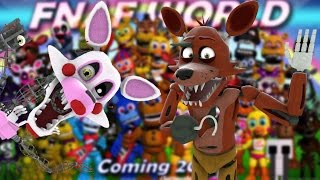 "MANGLE AND FOXY REACT TO: FNAF World OST - ""Battle Theme"" and ""Ice Cave"""