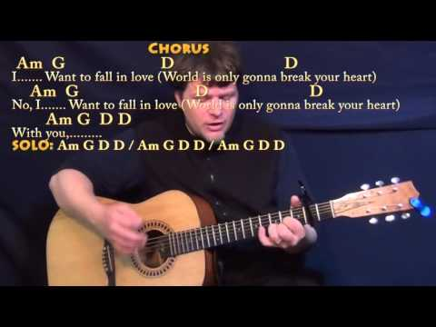 Wicked Game (Chris Isaak) Strum Guitar Cover Lesson with Chords/Lyrics - Capo 2nd