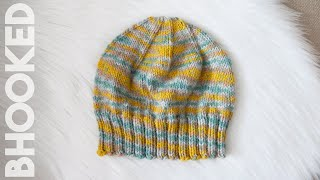 Everyday Knit Hat for Light and Medium Weight Yarn (9 Sizes!)