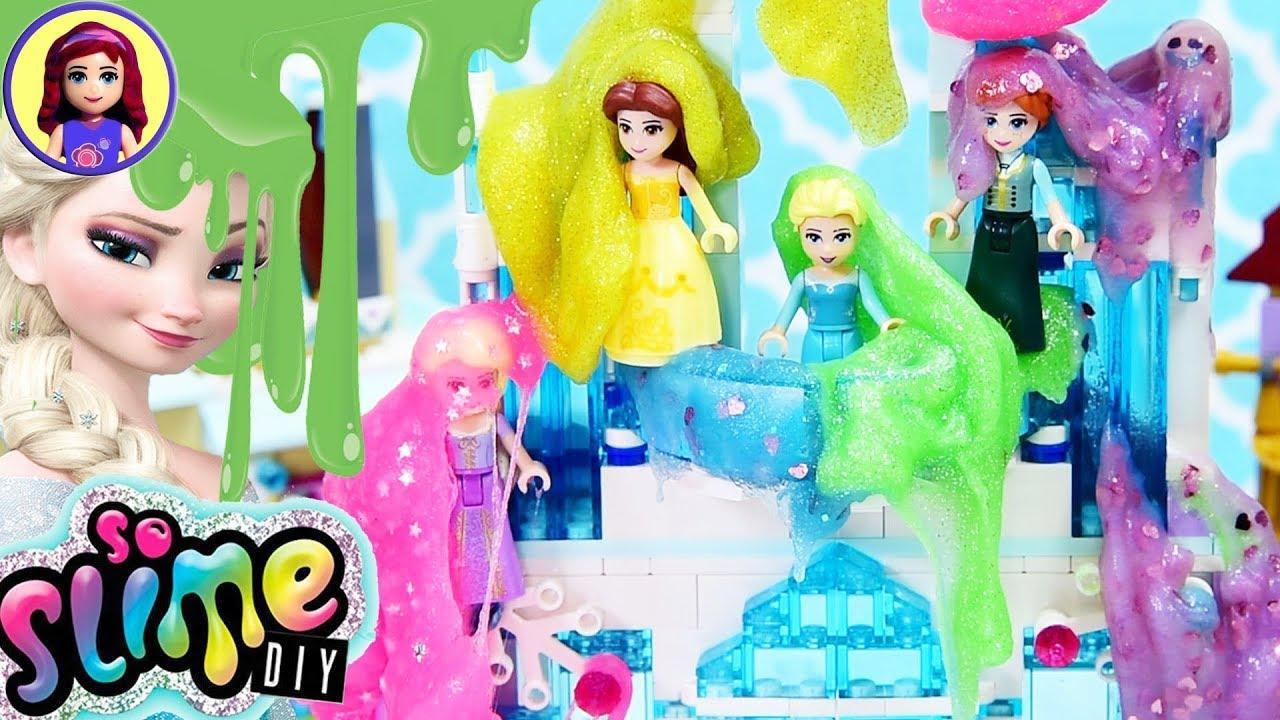 Disney Princess Slime Their Lego Castles So Slime Diy Review Silly