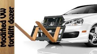No pallet Jack, No problem. VW to the rescue