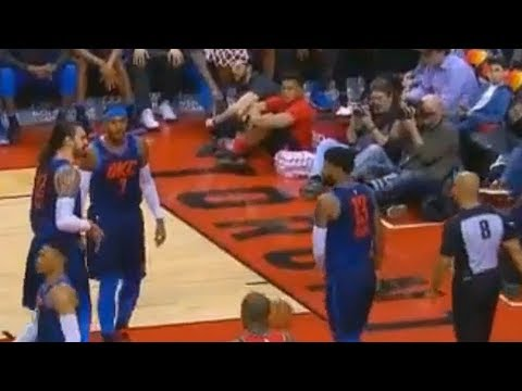 Steven Adams CURSES at Ref and Quickly Apologizes!