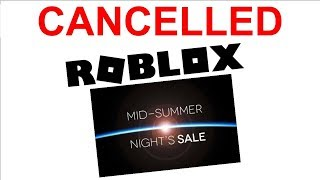 Roblox Midnight Sale 2019 CANCELLED?