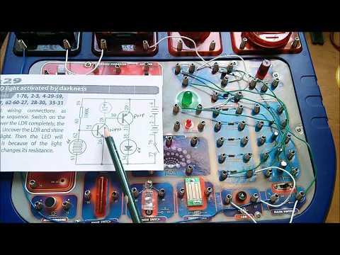 Basic Electronics 2-Transistor LED Photodiode Circuit
