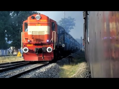 Thumbnail: Unbelievable Scenes : Indian Railways Racing Trains METRE Gauge vs BROAD Gauge