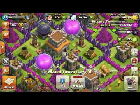 CLASH OF CLANS Upgrading Level 9 Archer Tower