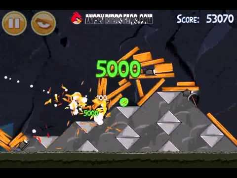 Angry Birds Level 17-8 Mine And Dine 3 Star Walkthrough