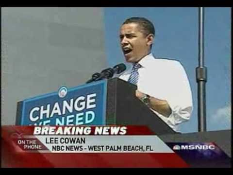 Obama exits trail for Hawaii, sick grandmother Part1 1/2 Rachel Maddow