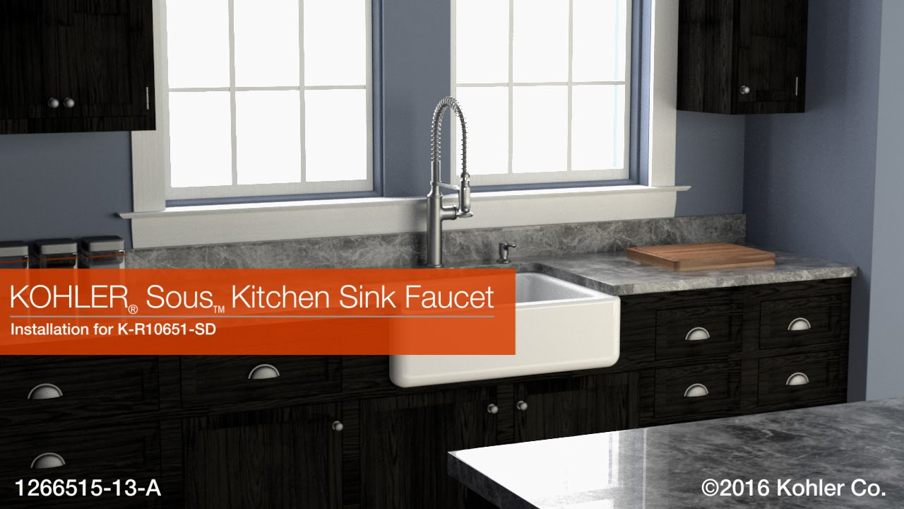 Installation – Sous Kitchen Sink Faucet - YouTube