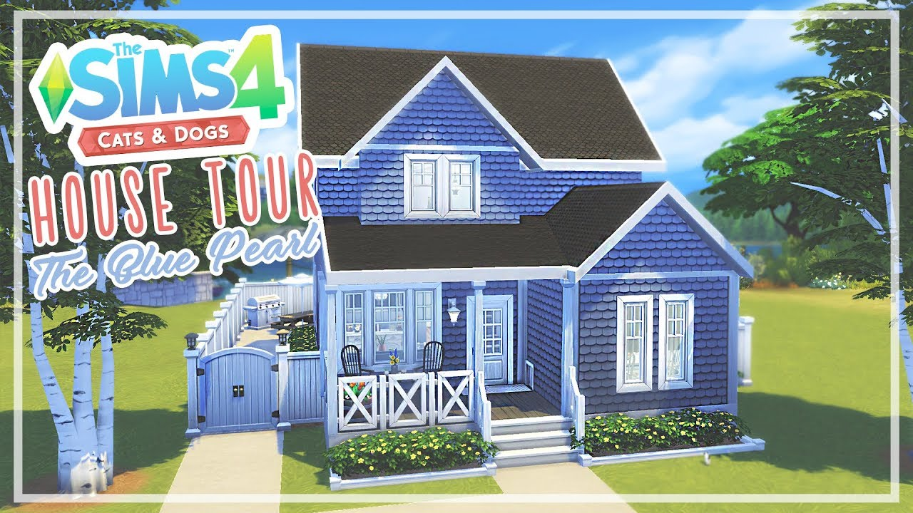 The Sims 4 Cats Dogs House Tour The Blue Pearl Youtube