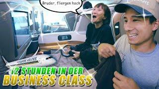 Das erste Mal BUSINESS CLASS für Mama, Papa, Bruder und mich (Info: ohaa)