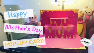 How to make Mother's Day POP-UP card /greeting card for beginners 母親節立體卡片 || RuoxiMyLife