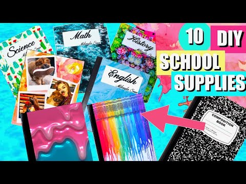 Thumbnail: DIY Notebooks For Back To School! EASY DIY School Supplies 2017!