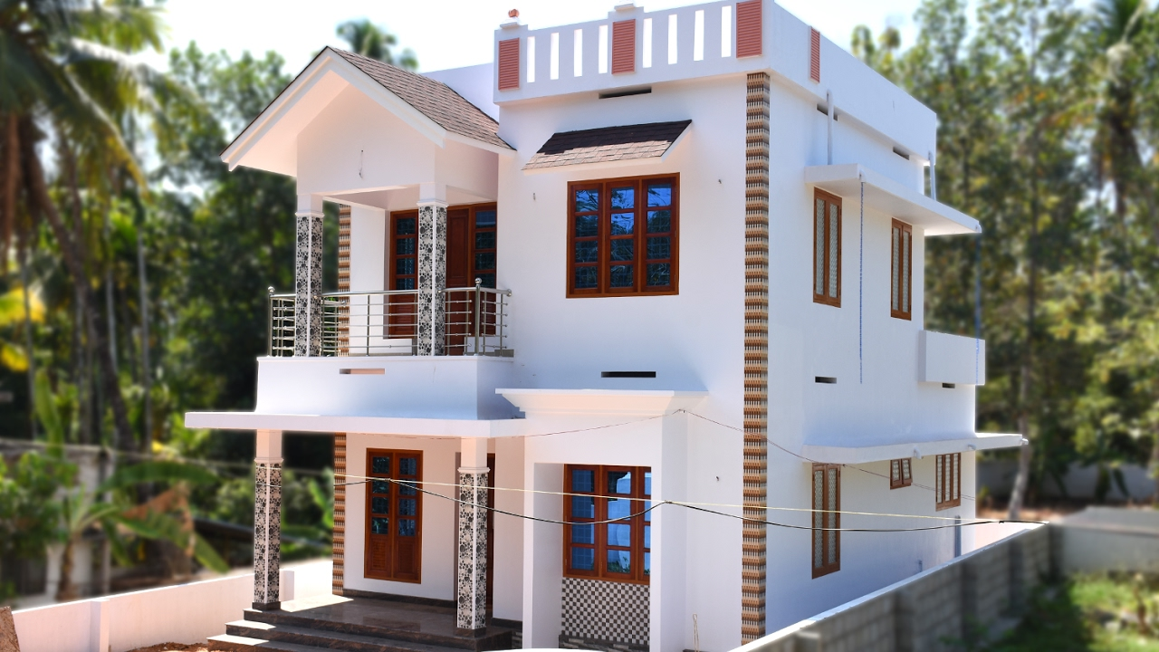 Angamaly 4 5 cents plot and 1300 sq ft low budget house Low budget house plans