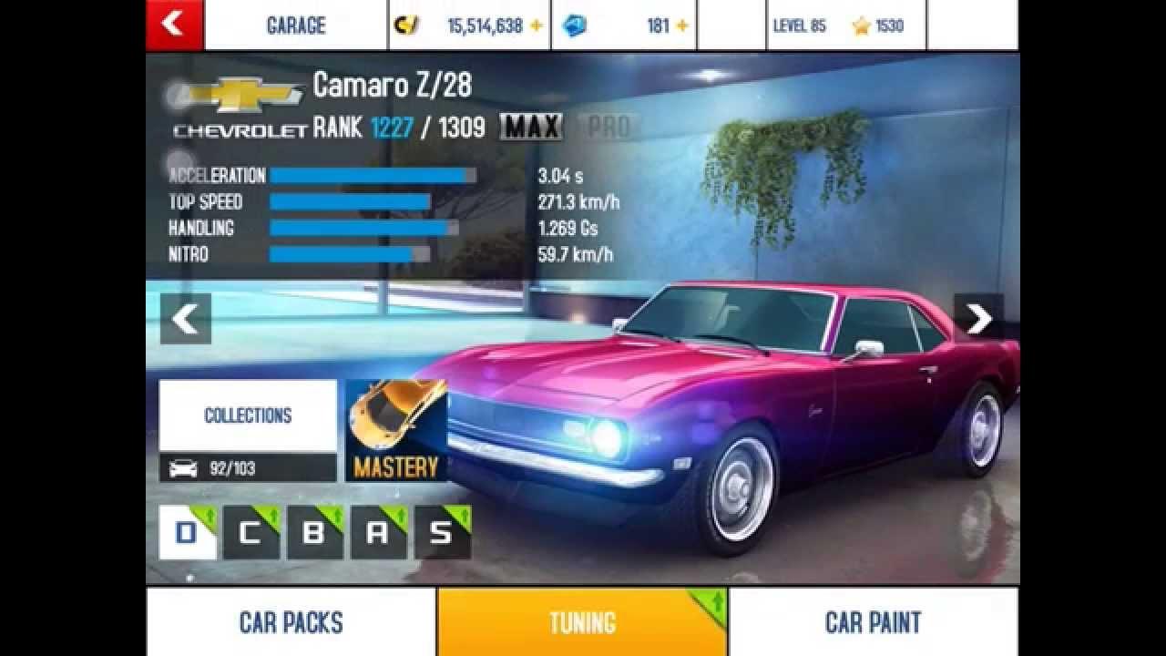 Asphalt 8 Camaro Z 28 Mastery Challenge Sector 8 Test Run Youtube