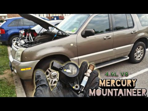 Spark Plugs Coil Pack Replacement 2002 2010 Mercury Mountaineer 4 6l V8 Engine Youtube
