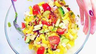 Салат «Хорошее Настроение» -  простой летний салат.