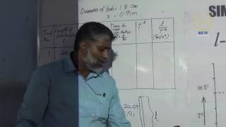 Simple Pendulum (Class XI Physics Lab)