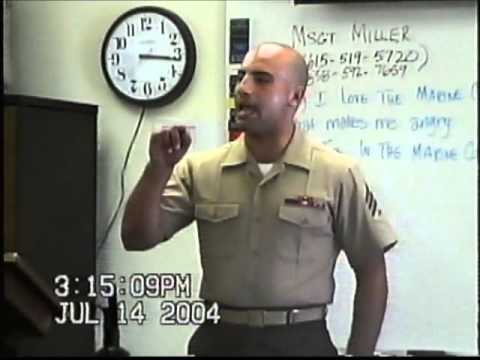Sgt Andres Burgos at USMC Basic Recruiters Course