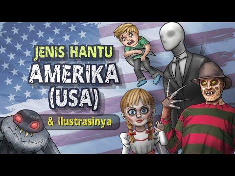 Jenis Hantu Amerika USA & Ilustrasinya #HORORTIME | Kartun Hantu & Cerita Misteri Horor, Annabelle
