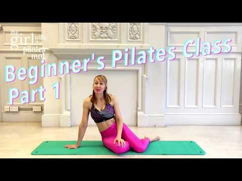 Beginner Pilates Class Part 1 of 4 Full Beginner's Class, Absolute Basics!