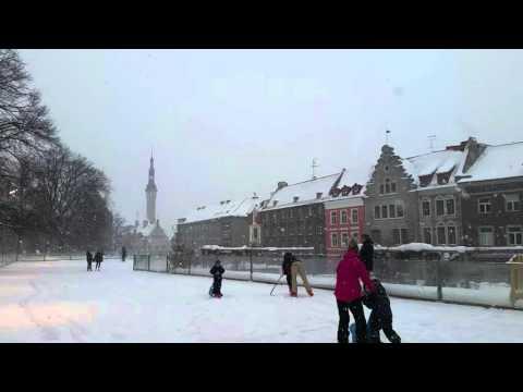 Tallinn sightseeing- Snowy outside ice rink in Tallinn