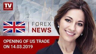 InstaForex tv news: 14.03.2019: Dollar and Bitcoin resume rally (USD, CAD, BRENT, BTC)