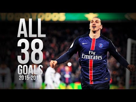 Zlatan Ibrahimovic - All 38 Goals 2015/2016 HD