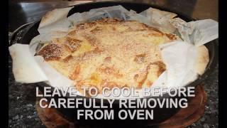 Camp Oven Coconut Rum Custard Bread Pudding