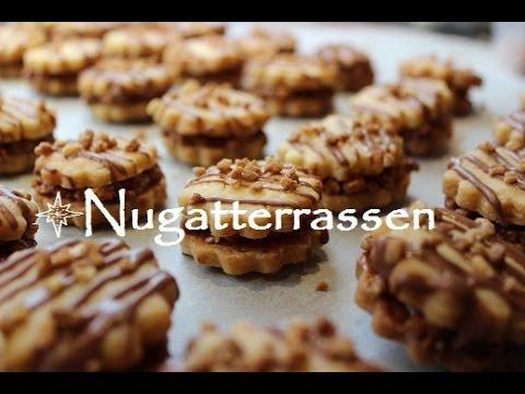 Weihnachtsplätzchen Nougat.Plätzchen Backen Rezept Nugatterrassen
