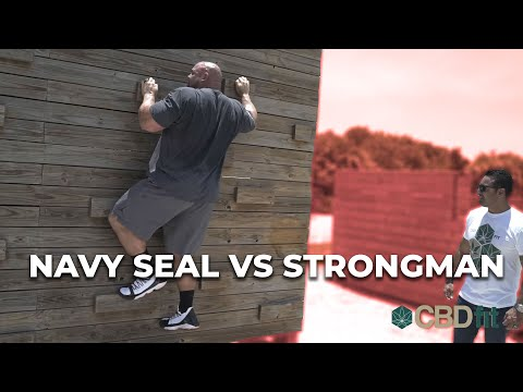 NAVY SEAL OBSTACLE COURSE CHALLENGE | NAVY SEAL VS 4X WORLD'S STRONGEST MAN Pt.1