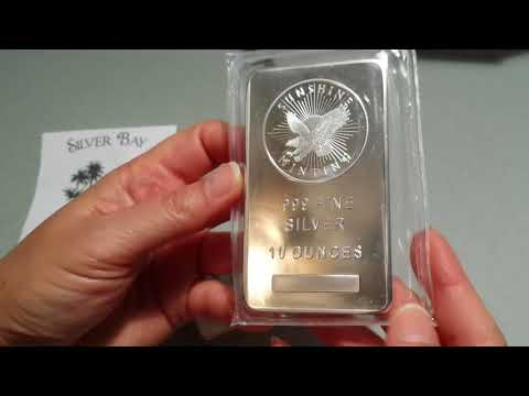 Unboxing LCS local coin shop 10oz silver bars and gold eagle