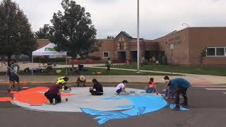 Timelapse of Intersection Mural at Castro Elementary