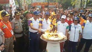 Suasana Kirab Api Obor Asian Games 2018 di Jakarta