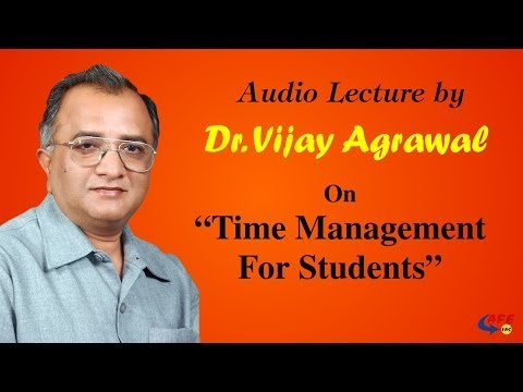 Time Management | Student Development Program - PART 3 | Dr. Vijay Agrawal | AFE IAS | IAS Coaching