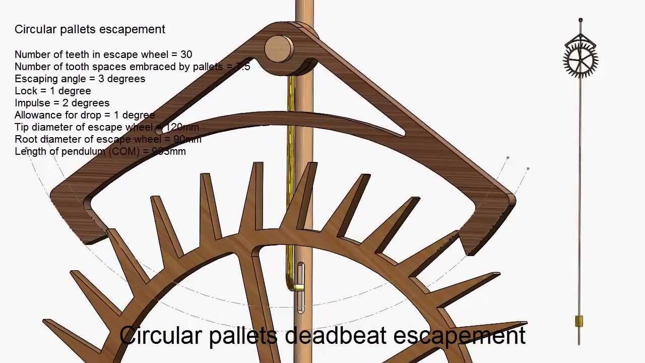 Circular Pallets Deadbeat Escapement - YouTube