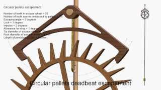Circular Pallets Deadbeat Escapement