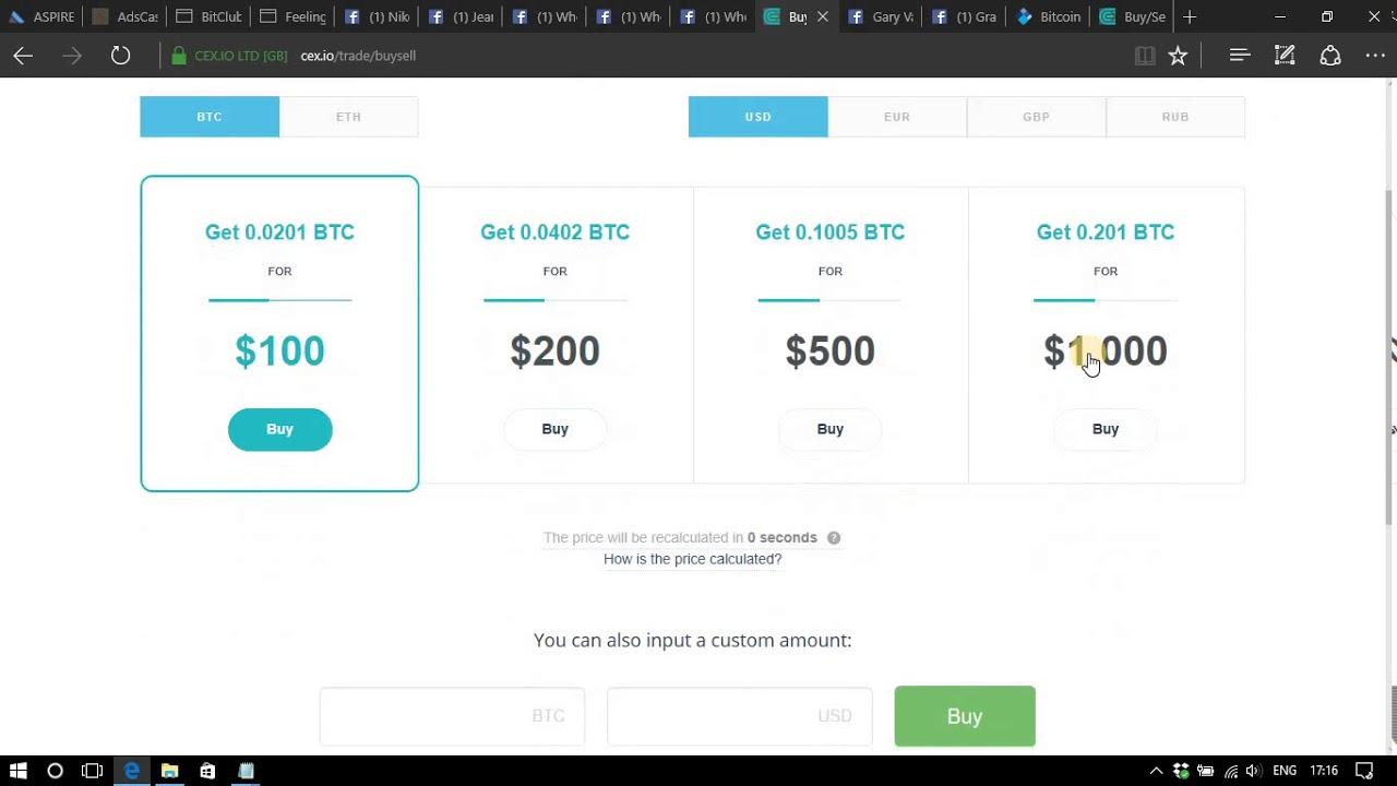 cex io buy bitcoins