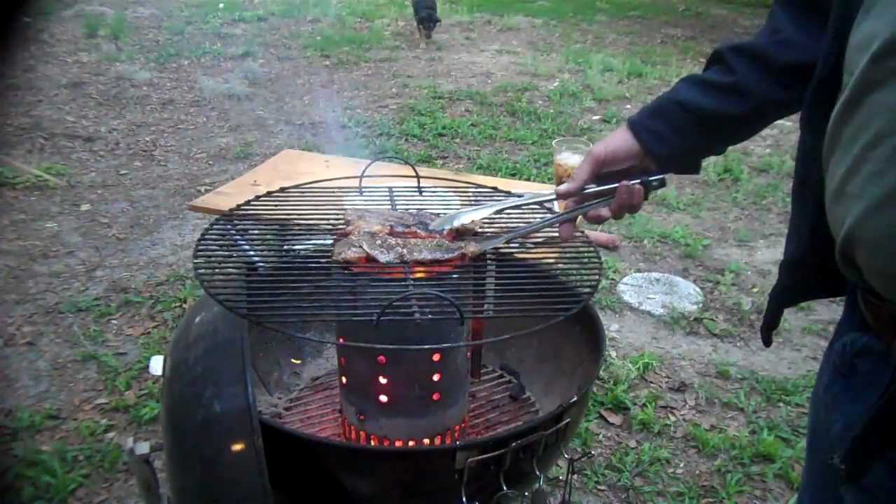 Cooking With Ed Seared Steak On A Charcoal Chimney Mp4