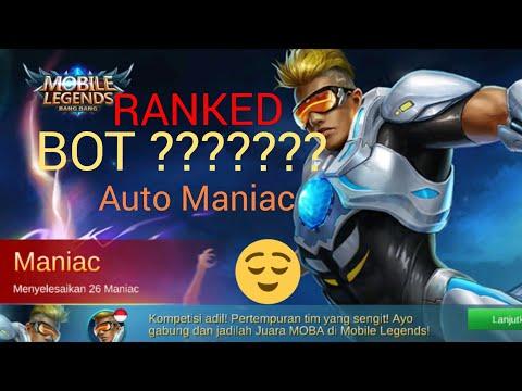 Main di RANKED tapi Lawannya BOT ? Auto Maniac hero Bruno Mobile Legends