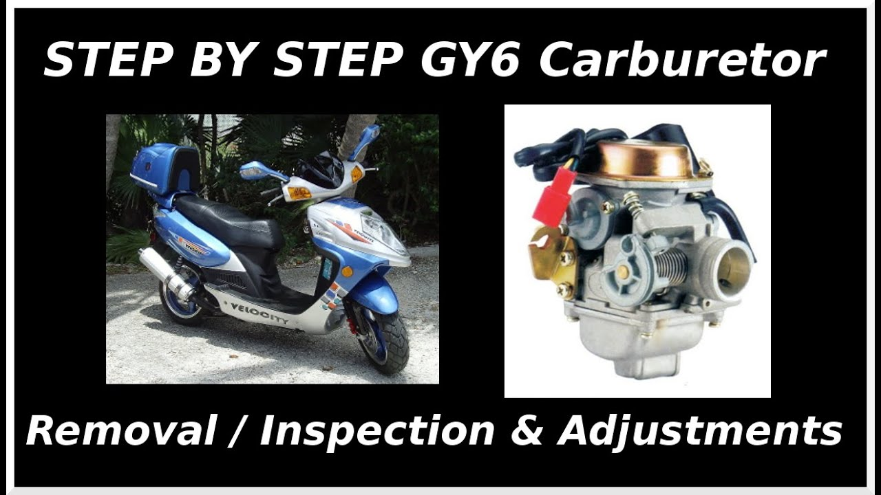 gy6 carburetor removal inspection adjustment start to finish  [ 1280 x 720 Pixel ]
