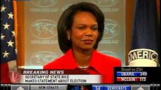 """Condi Rice Pretends To Shed """"Tears Of Joy"""" For Barack Obama"""