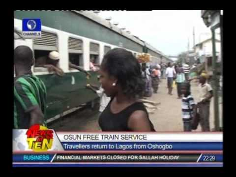 Osun offers free train services to travellers rturning to Lagos