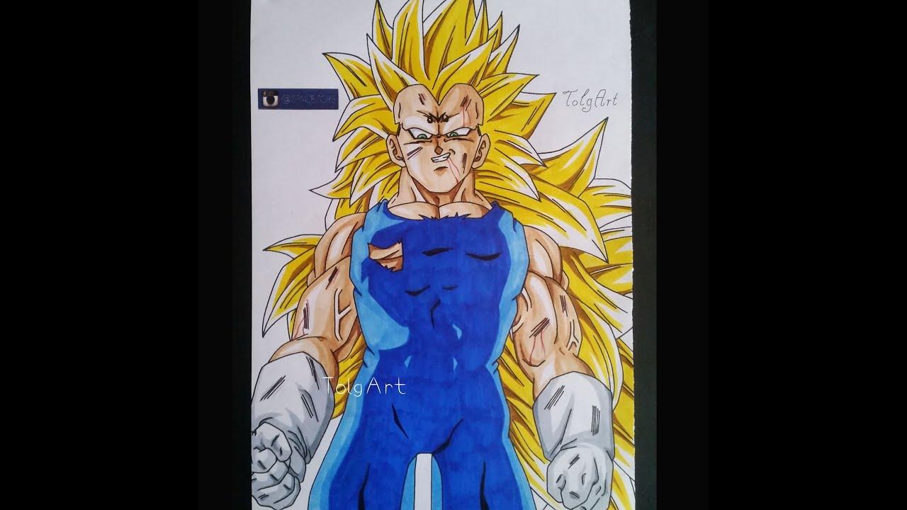 Coloring Majin Vegeta SSJ3 [Dragonball Z] Collab With