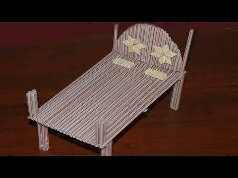 How to make a Bed using Straw | DIY doll bed | 5 MINUTE CRAFTS VIDEOS