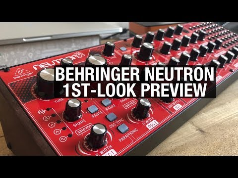 Behringer Neutron Analog Synth Demo & Preview