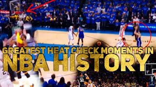 Greatest HEAT CHECK Moments in NBA History (DIDN'T MISS ANY)