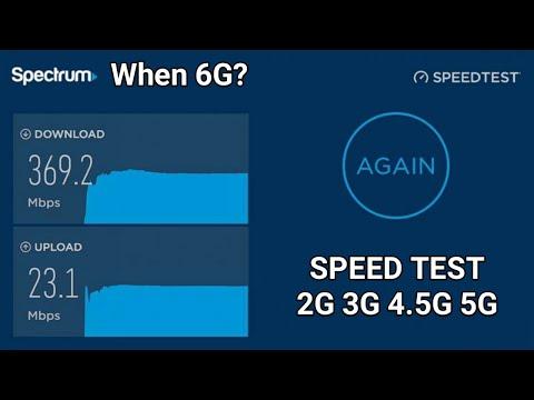 Speed Test 2G 3G 4G 4.5G 5G Comparison