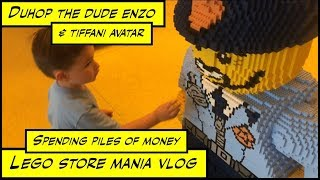 duhop father surprises son after school trip to lego store mall vlog