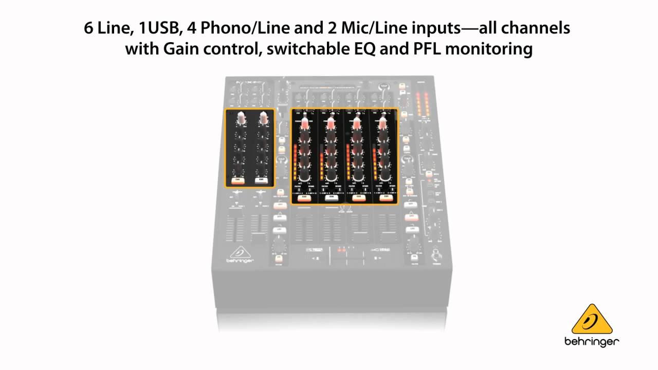 behringer pro mixer nox606 premium 6 channel dj mixer with infinium contact free vca. Black Bedroom Furniture Sets. Home Design Ideas